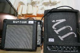 Cheetah Guitar Amp, Kustom Amp and Ross example