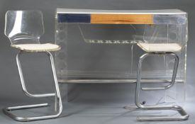 Luigi Bardini for Hill Mfg. Co. acrylic bar set.
