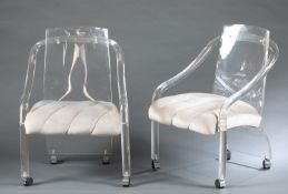 6 Hollywood Regency Hill Mfg. Co. Lucite chairs.