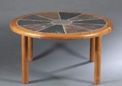 Tue Poulsen for Haslev, coffee table, 1960s.