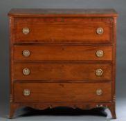 American mahogany butler's desk, 19th c.