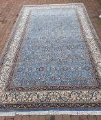 Persian Qum hand knotted rug, 20th c.