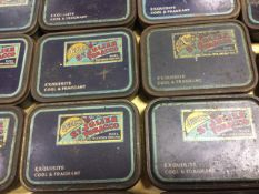 A large South American cigar box; and twenty-one old St Julienne tobacco tins. (22)