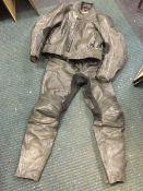 A Hein Gericke safe leather motorbike suit - size 54. (2)