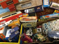 Miscellaneous childrens toys including a working model engine, tinplate, Dinky vehicles, lead