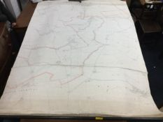 A large handcoloured map, the sheet dated 1897 centering on Doxford Northumberland, showing Rock
