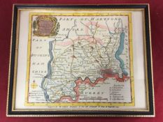A handcoloured eighteenth century map of London after Bowen showing Middlesex divided into its