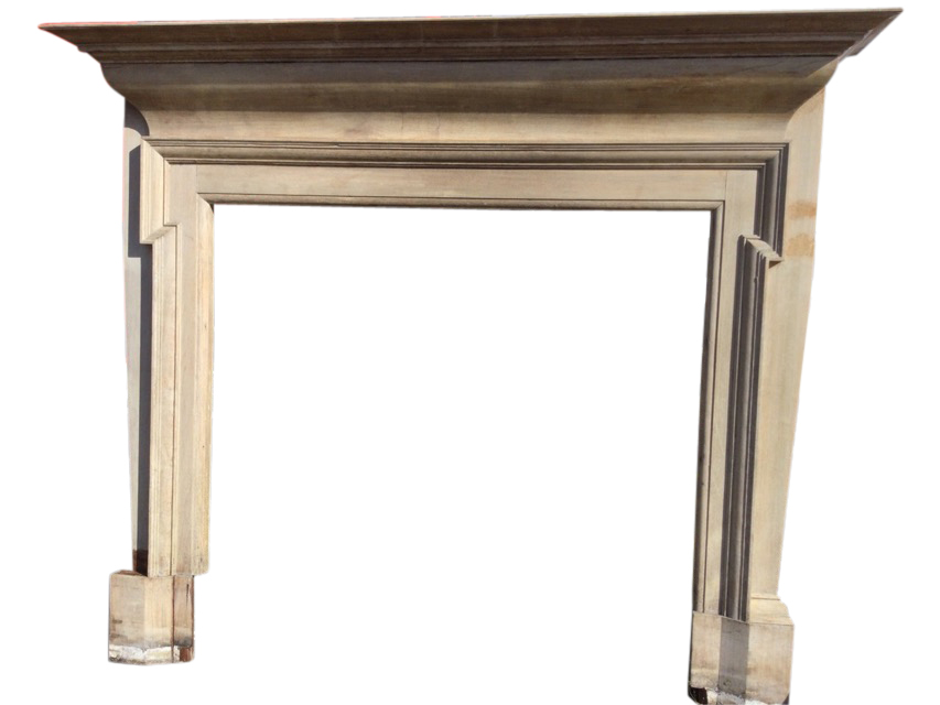 A Victorian mahogany chimneypiece with moulded mantleshelf above a cushion moulded frieze, the