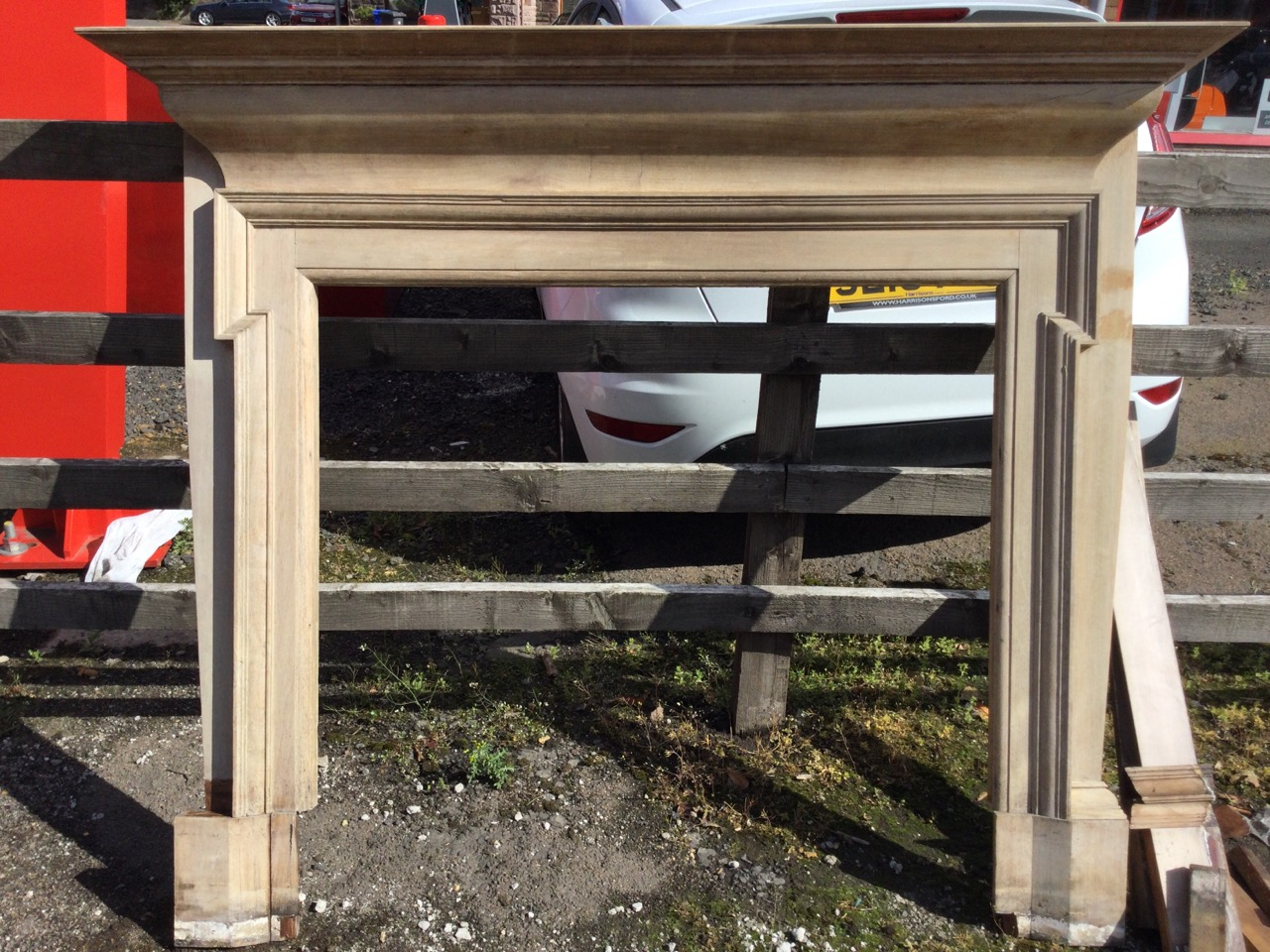 A Victorian mahogany chimneypiece with moulded mantleshelf above a cushion moulded frieze, the - Image 3 of 3