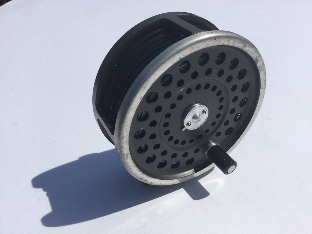 A Hardy Marquis No2 salmon fly reel, with sinking line. (4in) - Image 3 of 3