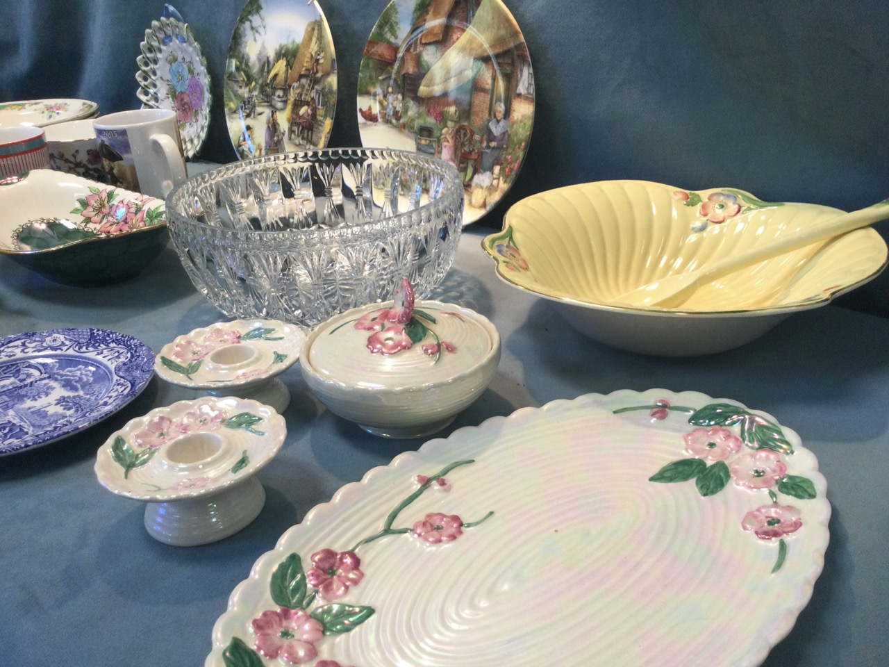 Miscellaneous ceramics including a Clarice Cliff Celtic Harvest pattern sucrié, a Maling apple - Image 2 of 3