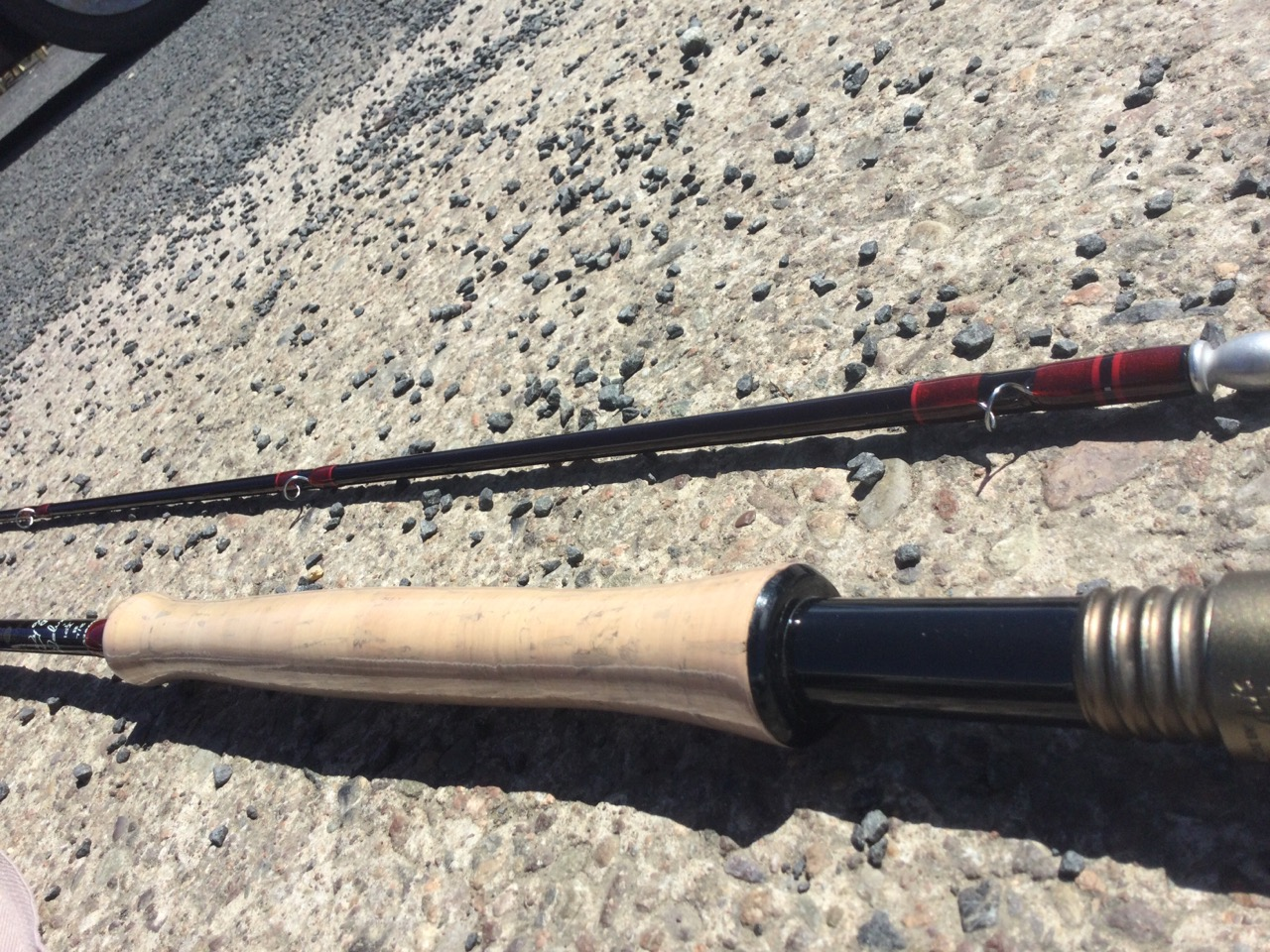 A new Hardy Deluxe graphite 10ft 6in two-piece fly rod, with sleeve. - Image 3 of 3