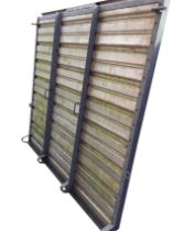A rectangular ribbed Ifor Williams trailer ramp in galvanised frame. (65in x 71in)