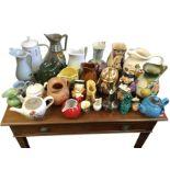 A collection of miscellaneous jugs & teapots - Noritake, Meakin, Radford, handpainted, Arthur