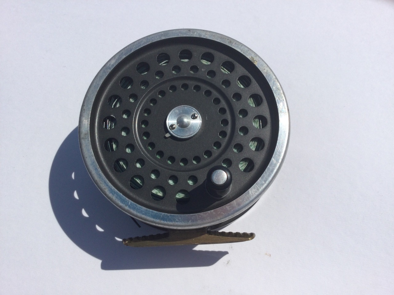 A Hardy Marquis No2 salmon fly reel, with sinking line. (4in)