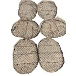 Six oval galvanised mesh potatoes trays. (23in) (6)