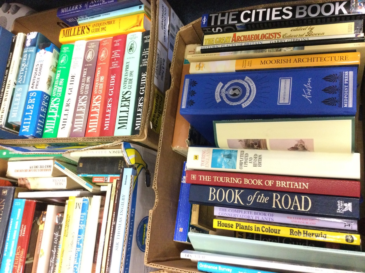 Five boxes of books - gardening & cooking, history & royalty, antiques & Millers guides, travel & - Image 2 of 3