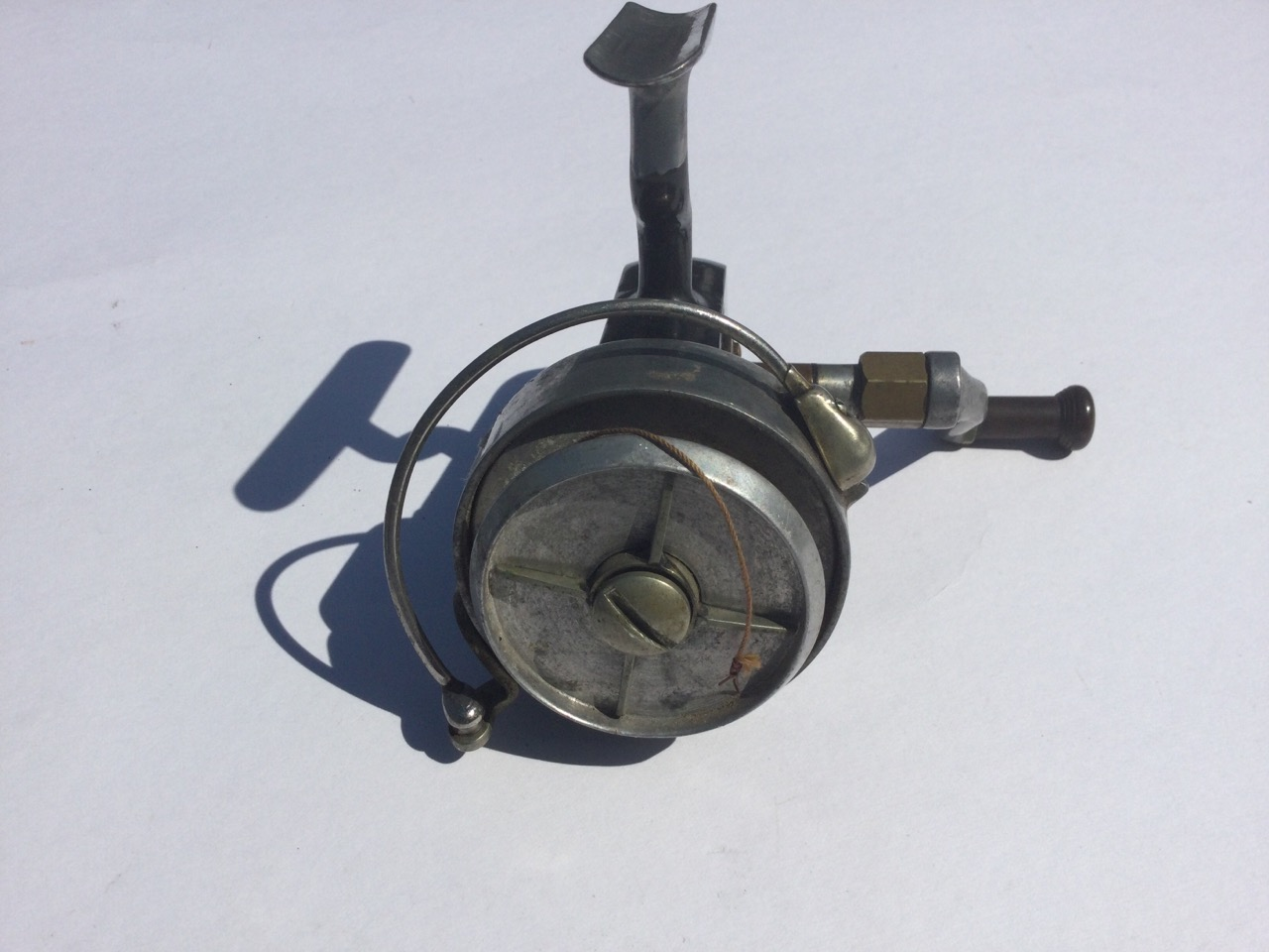 A Hardy Altex spinning reel, No 2 Mark V, having grey metallic body and folding handle. - Image 3 of 3