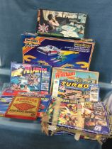 A boxed Matchbox Speed Riders set (no cars), and other large boxed games - Crossbows & Catapults,