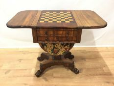 George IV games table in the manner of Gillows