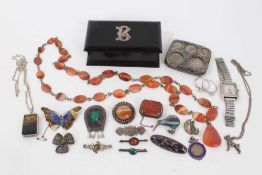 Group silver jewellery and bijouterie