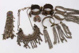 Group Eastern metal jewellery