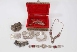 Lot silver and other jewellery
