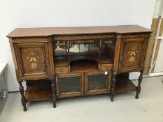 Late Victorian inlaid rosewood sideboard