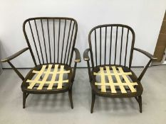 Pair of Ercol elbow chairs