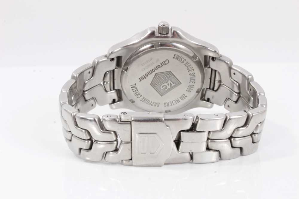 Gentlemen's Tag Heuer Link Chronometer stainless steel wristwatch, model WT5113, the circular brushe - Image 6 of 10