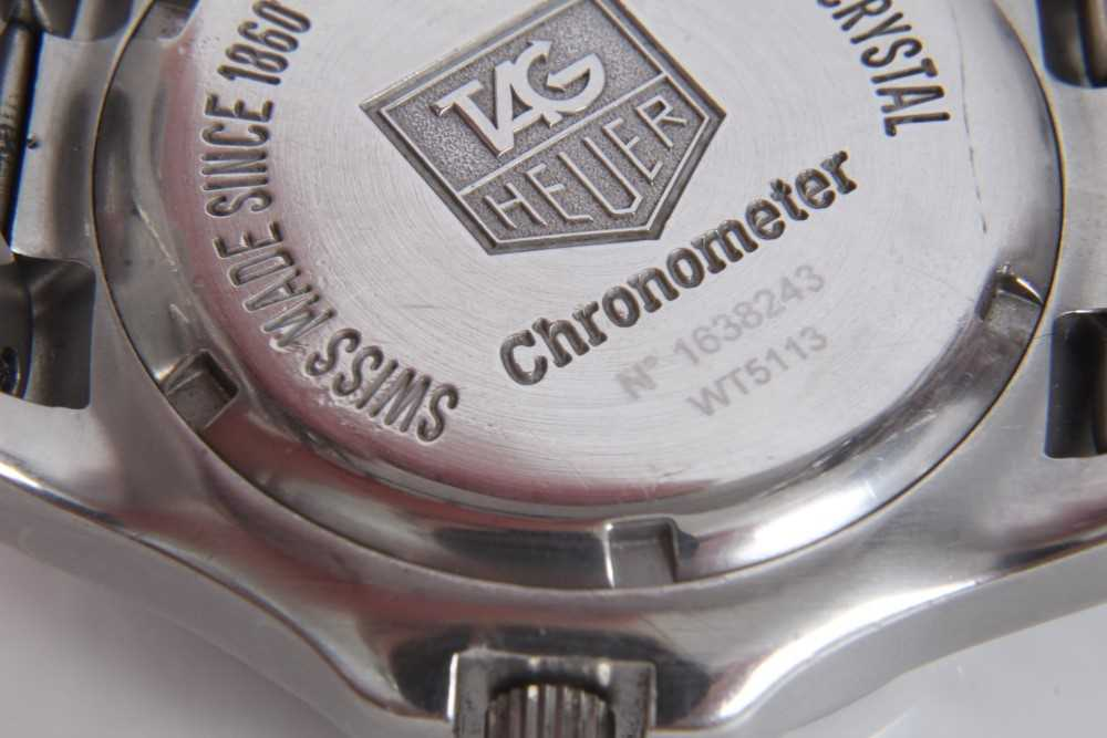 Gentlemen's Tag Heuer Link Chronometer stainless steel wristwatch, model WT5113, the circular brushe - Image 8 of 10