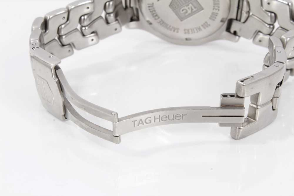 Gentlemen's Tag Heuer Link Chronometer stainless steel wristwatch, model WT5113, the circular brushe - Image 10 of 10