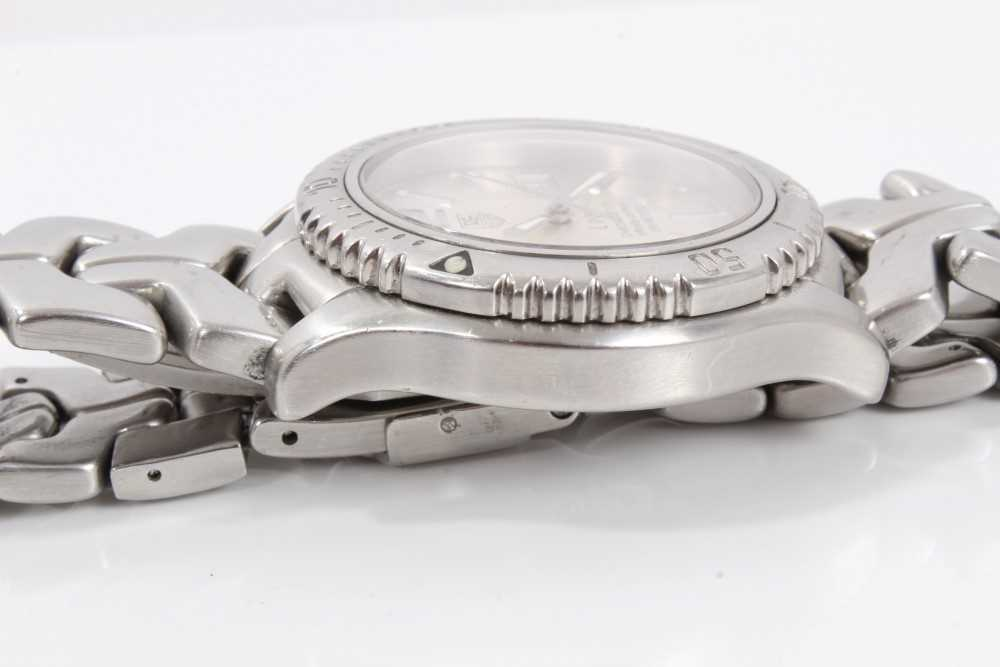 Gentlemen's Tag Heuer Link Chronometer stainless steel wristwatch, model WT5113, the circular brushe - Image 5 of 10