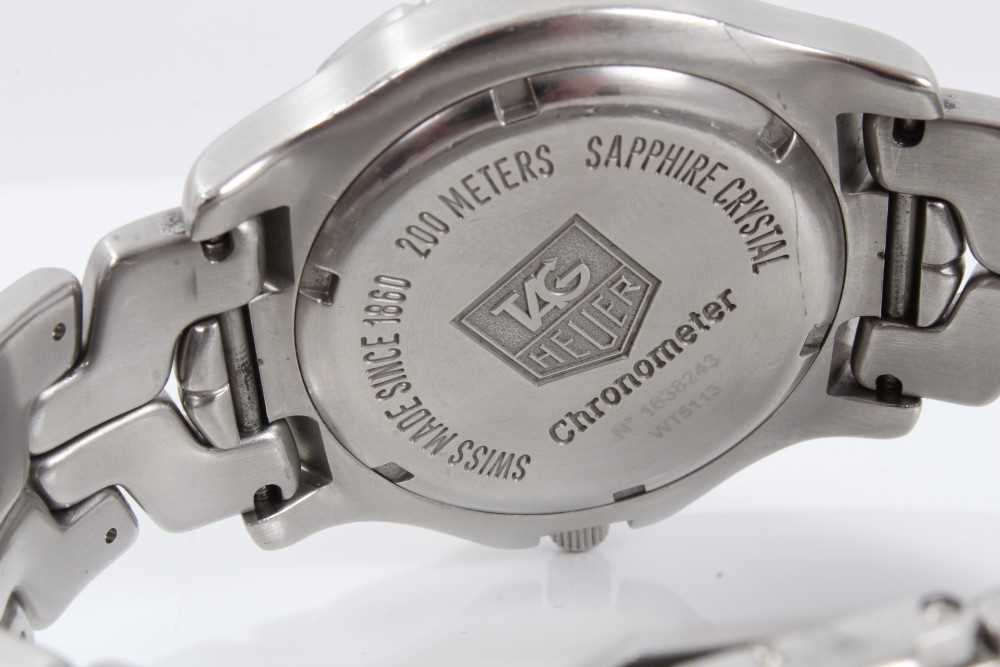 Gentlemen's Tag Heuer Link Chronometer stainless steel wristwatch, model WT5113, the circular brushe - Image 7 of 10