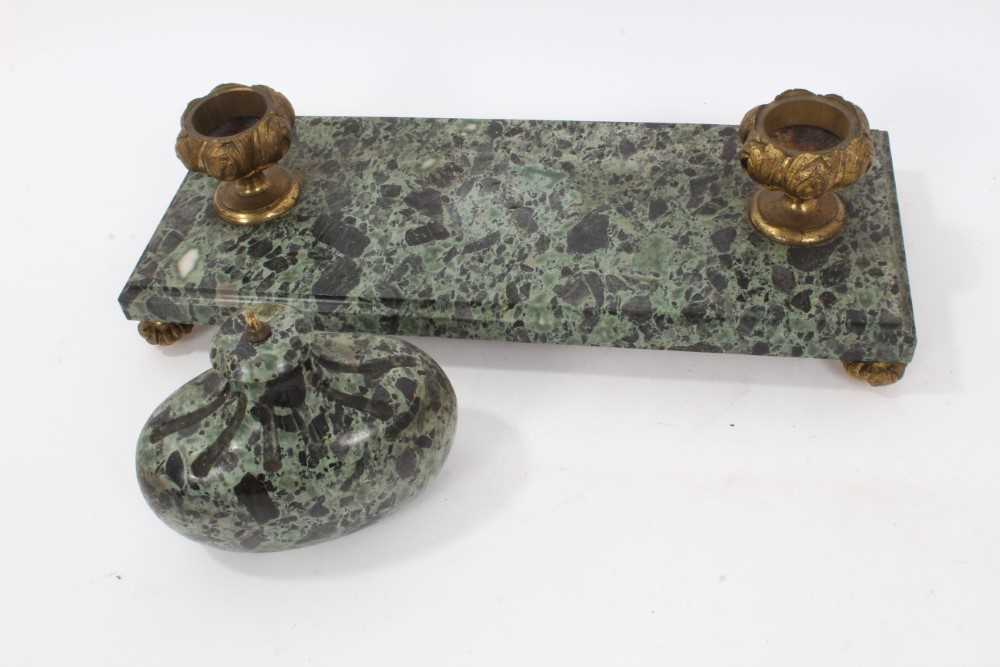 19th century marble desk stand - Image 6 of 13