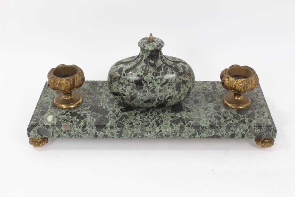 19th century marble desk stand - Image 2 of 13