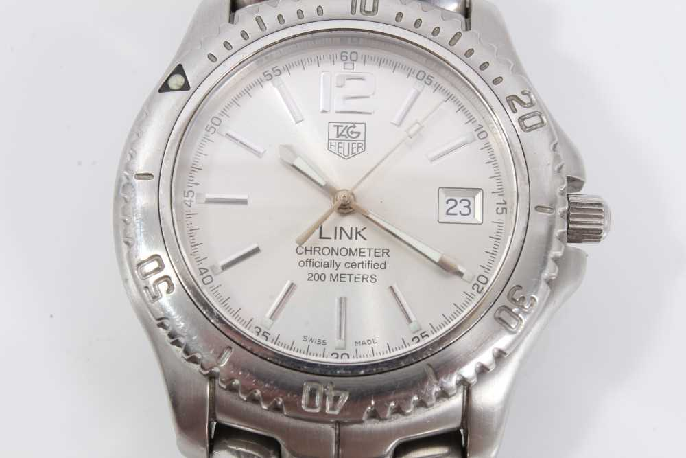 Gentlemen's Tag Heuer Link Chronometer stainless steel wristwatch, model WT5113, the circular brushe - Image 3 of 10
