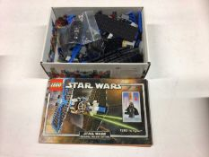 Lego 7661 Jedi Starfighter, 7671 AT AP Walker, 7263 TIE Fighter with mini figs, 8017 Darth Vader TIE
