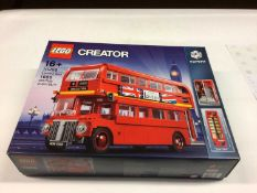 Lego Creator Expert 10258 London Bus, 10242 Mini Cooper both with instructions and boxed, 10220 Volk