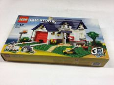 Lego Creator 7346 Seaside House 3 in 1, 5861 Apple Tree House 3 in 1, 5766 House 3 in 1, 31050 Shop