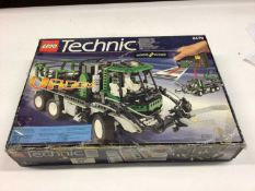 Lego Technic 8478 Articulated Green Truck, boxed, 9396 Helicopter, no box, both with instructions