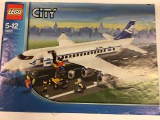 Lego 7249 City Crane (Large), 7685 City Bulldozer, 7893 City Airplane (Large), with minifigs and ins