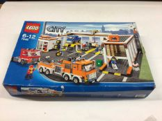 Lego 7642 Garage, 7637 Farm Set, including minifigs and instructions, Boxed