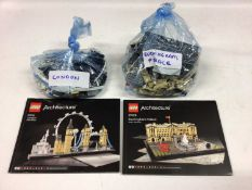Lego Architecture 21013 Big Ben, 21012 Sydney Opera House, 21032 Sydney with instructions available