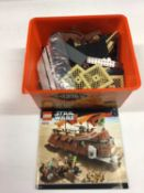 Lego 75093 Death Star Final Duel, 6210 Jabba Sail Barge, 6210 Jabba Sail Barge, all including instru