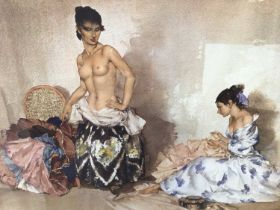 William Russell Flint (1880-1969) limited edition colour print - The Dress Fitting, 533/850, with WR