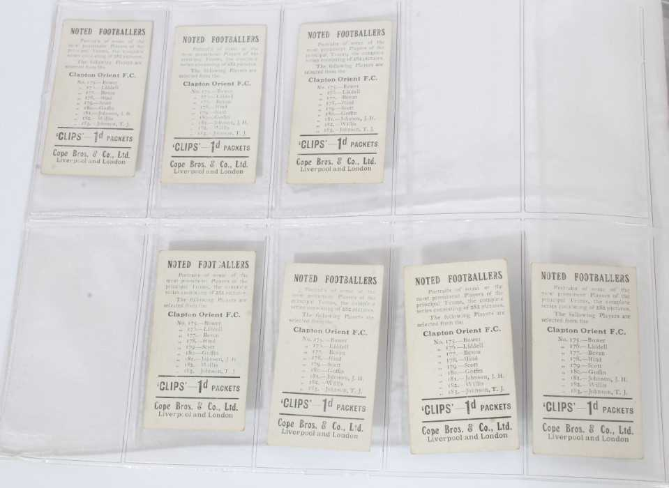 Cigarette cards - Cope Bros 1910. Noted Footballers (Clips 282 Subjects) 41 different subjects. - Image 8 of 12