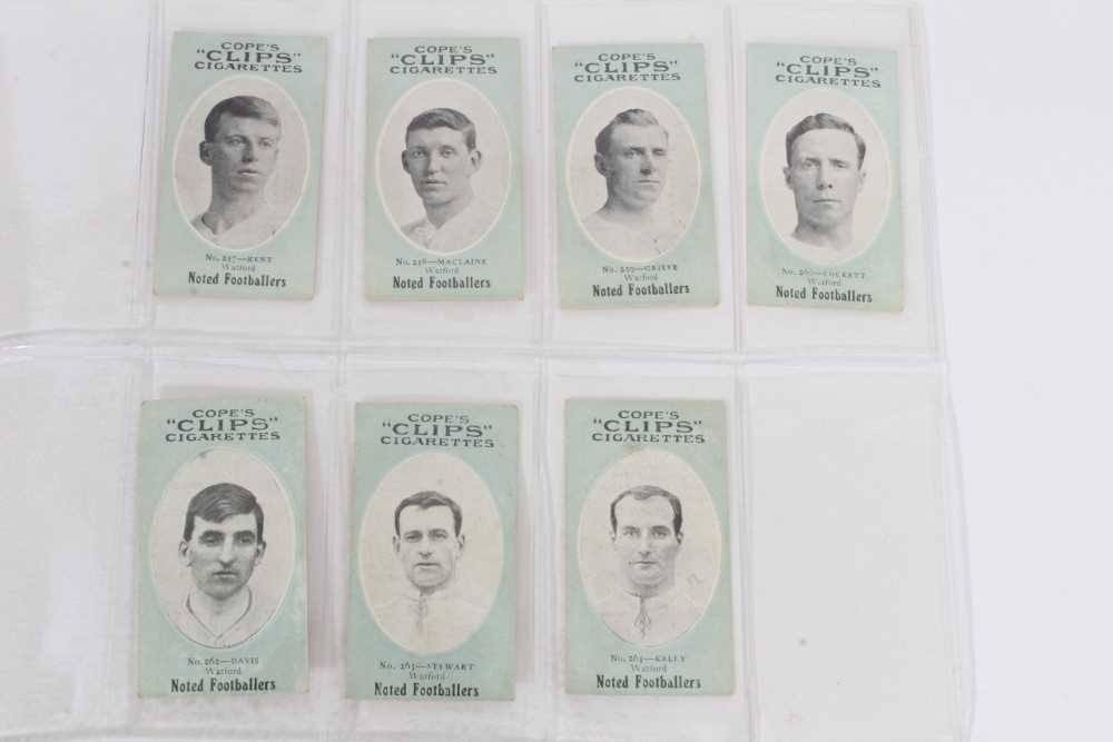 Cigarette cards - Cope Bros 1910. Noted Footballers (Clips 282 Subjects) 41 different subjects. - Image 3 of 12