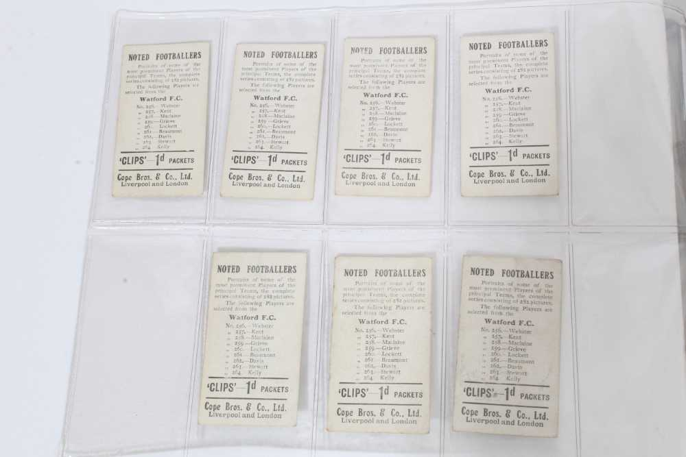 Cigarette cards - Cope Bros 1910. Noted Footballers (Clips 282 Subjects) 41 different subjects. - Image 4 of 12
