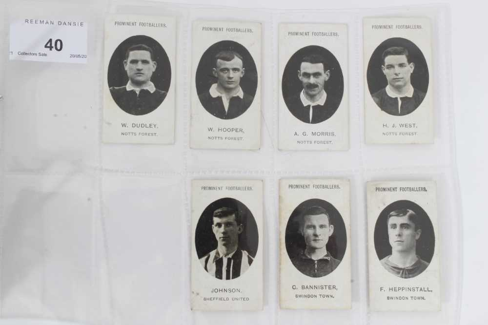 Cigarette cards - Taddy 1907/8 Prominent Footballers - 12 different, variety of backs including (Imp